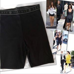 Versace Shorts - VERSACE INTENSIVE ITALY VINTAGE 90S BIKE SHORTS